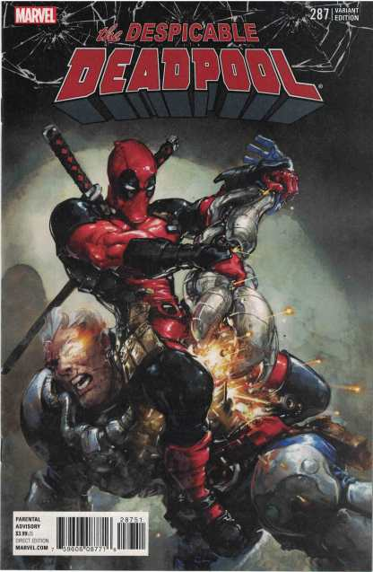 Despicable Deadpool #287 1:25 Clayton Crain Cable Promo Variant Marvel 2017