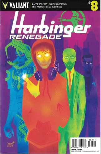 Harbinger Renegade #8 1:20 Jeffrey Veregge Valiant Variant 2016