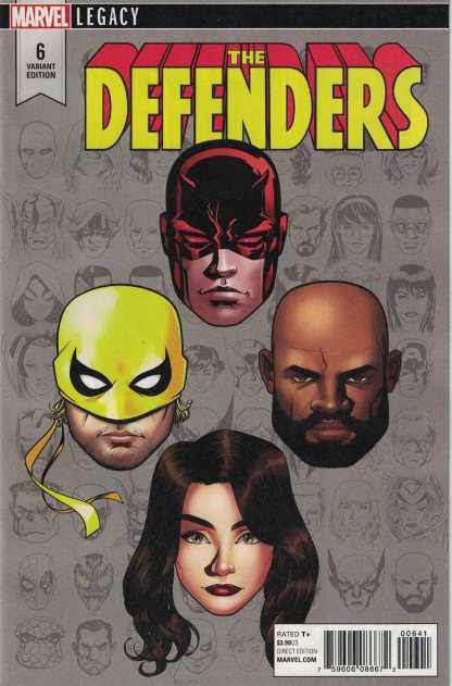 Defenders #6 1:10 Mike McKone Legacy Headshot Variant Marvel 2017