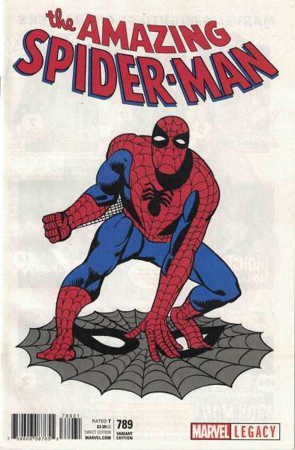Amazing Spider-Man #789 1:50 Steve Ditko 1965 T-Shirt Variant Marvel Legacy