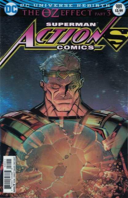 Action Comics #989 Nick Bradshaw Lenticular Variant DC Rebirth 2011 Superman Oz