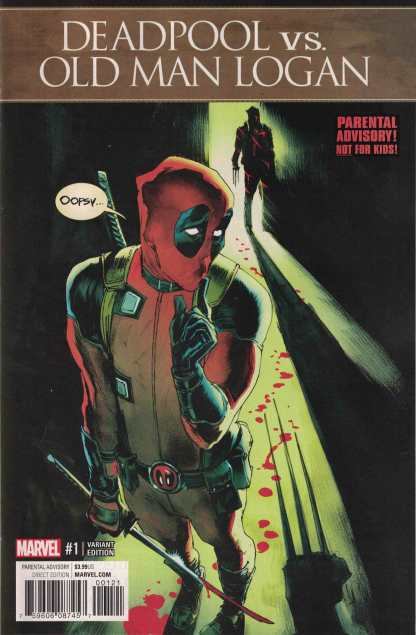 Deadpool Vs. Old Man Logan #1 1:25 Rafael Albuquerque Variant Marvel 2017