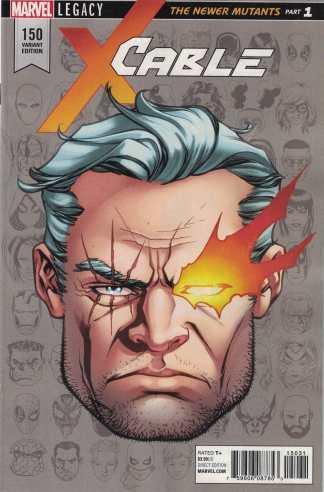 Cable #150 1:10 Mike McKone Headshot Variant Marvel Legacy 2016