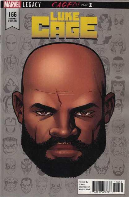 Luke Cage #166 1:10 Mike McKone Headshot Variant Marvel Legacy 2016