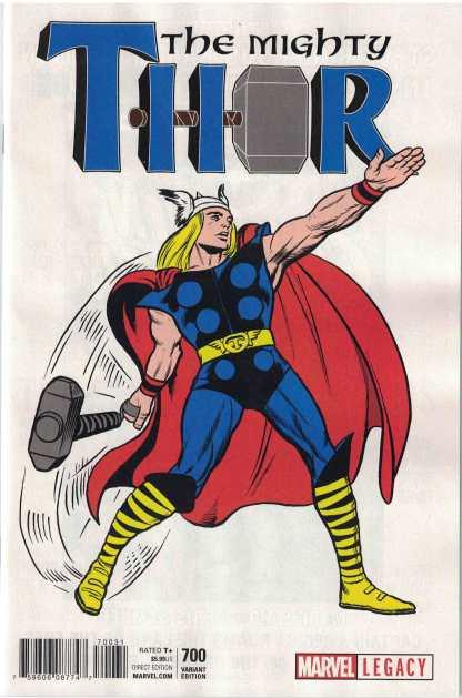 Mighty Thor #700 1:50 Jack Kirby 1965 T-Shirt Variant Marvel Legacy