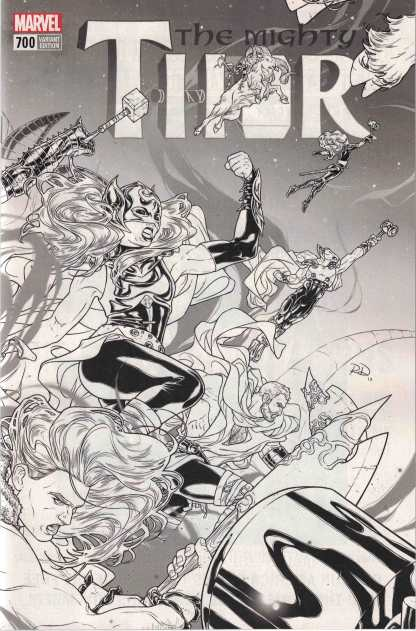 Mighty Thor #700 1:100 Russell Dauterman Sketch Variant Marvel Legacy