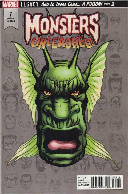 Monsters Unleashed #7 1:10 Mike McKone Headshot Variant Marvel Legacy