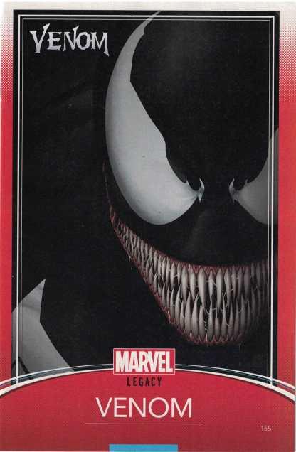 Venom #155 Unlocked John Tyler Christopher Trading Card Variant Marvel Legacy