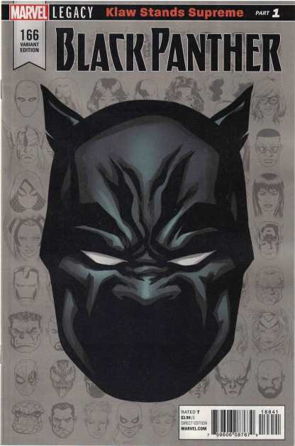 Black Panther #166 1:10 Mike McKone Headshot Variant Marvel Legacy