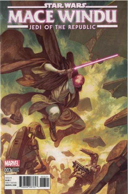 Star Wars Jedi Republic Mace Windu #3 1:25 Julian Totino Tedesco Variant Marvel