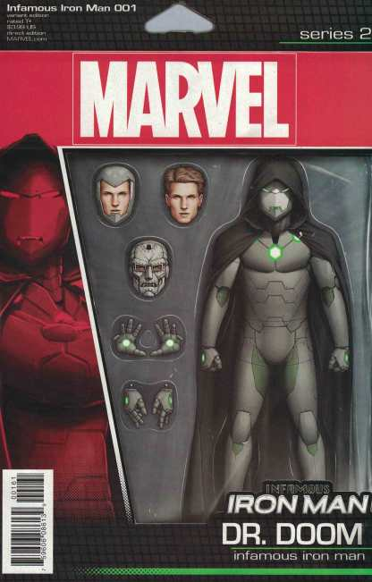 Infamous Iron Man #1 Christopher Action Figure Variant NOW Marvel 2016 Dr Doom