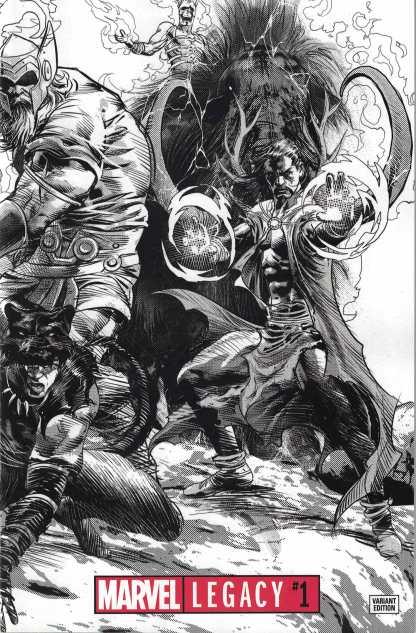 Marvel Legacy #1 1:1000 Mike Deodato Wraparound Black & White Variant 2017