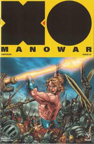 X-O Manowar #7 1:20 Ryan Bodenheim Valiant Interlock Variant New Arc 2017