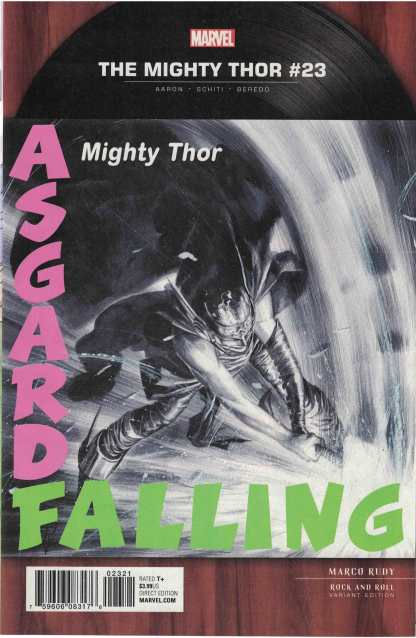 Mighty Thor #23 1:5 Marco Rudy Rock Roll Clash Homage Variant Marvel 2015