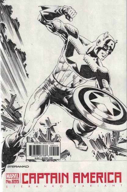 Captain America #695 1:50 Jim Steranko Black & White Variant Marvel Legacy