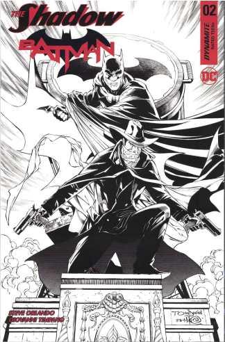 Shadow Batman #2 1:50 Tony S Daniel Black & White Variant Dynamite 2017
