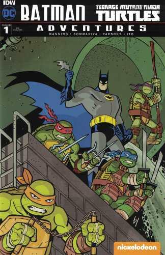 Batman TMNT Adventures #1 1:25 Retailer Incentive Variant RI IDW DC 2016