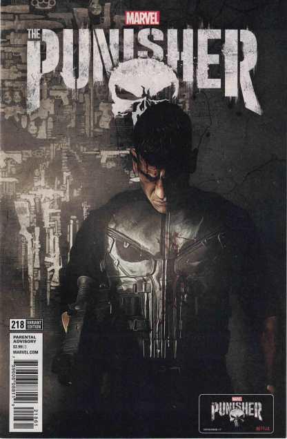 The Punisher #218 Guiu Vilanova Netflix TV Photo Variant Legacy Jon Bernthal