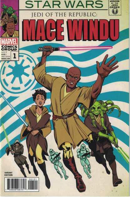 Star Wars Jedi Republic Mace Windu #1 1:10 Javier Rodriguez Homage Variant