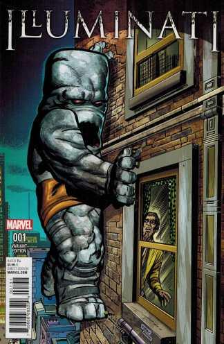 Illuminati #1 1:10 Dick Ayers Jack Kirby Monster Variant Marvel 2015 ANAD