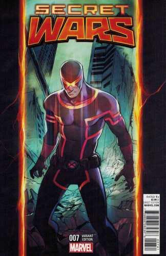 Secret Wars #7 Stacey Lee Cyclops Variant Marvel 2015 SWA