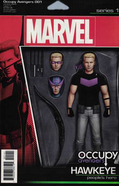 Occupy Avengers #1 Christopher Action Figure Variant NOW Marvel 2016 Hawkeye