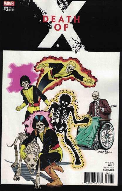 Death of X #3 Bob McLeod Classic Variant Marvel 2016 New Mutants Homage
