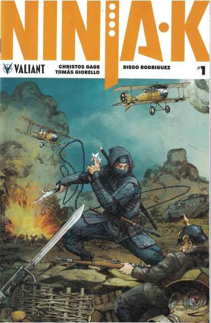 Ninja-K #1 1:20 Kenneth Rocafort Interlocking Valiant Variant Cover C 2017