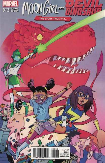 Moon Girl and Devil Dinosaur #13 Story Thus Far Variant Marvel ANAD 2015