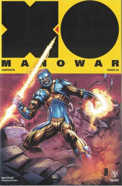 X-O Manowar #9 1:50 Darick Robertson Icon Valiant Variant 2017 Emperor