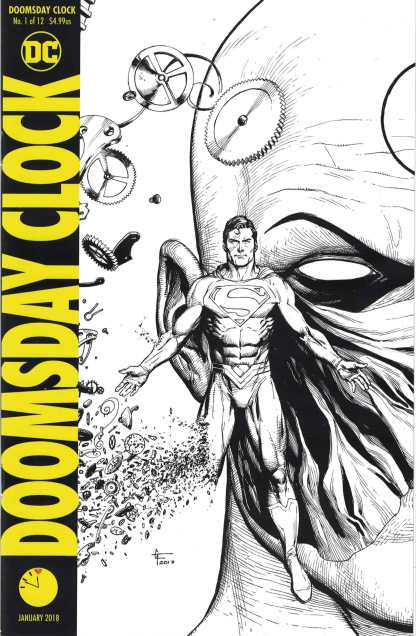 Doomsday Clock #1 Midnight Frank B&W Black White Sketch Variant DC 2017