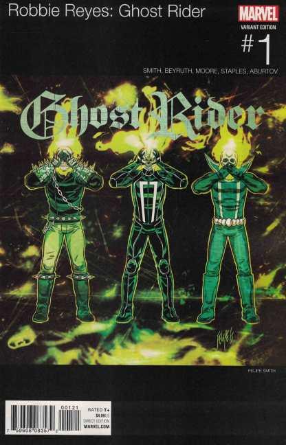 Ghost Rider #1 Filipe Smith Hip Hop Variant NOW Marvel 2016 Robbie Reyes
