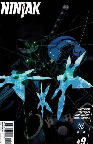 Ninjak #9 1:20 Mitch Gerads Variant Cover E Valiant 2015
