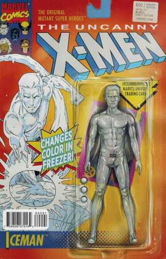 Uncanny X-Men #600 Ice Man Action Figure Variant Marvel Comics