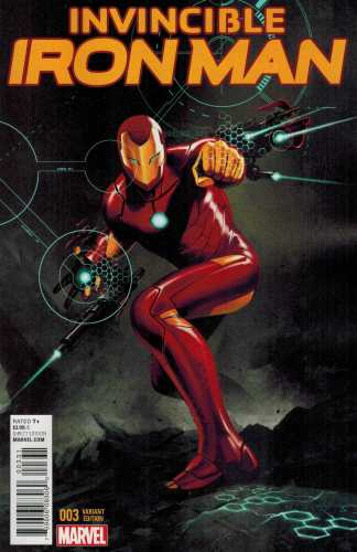 Invincible Iron Man #3 1:25 Steve Epting Variant Marvel ANAD 2015