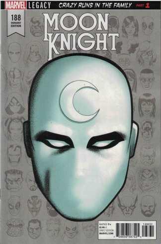 Moon Knight #188 1:10 Mike McKone Headshot Variant Marvel Legacy