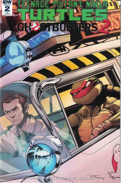 TMNT Ghostbusters II #2 1:10 Donny Tran Variant IDW 2017