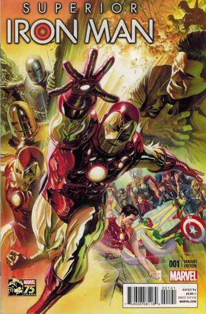 Superior Iron Man #1 1:75 Alex Ross Color Variant