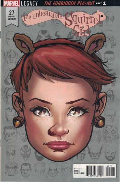 Unbeatable Squirrel Girl #27 1:10 Mike McKone Headshot Variant Marvel Legacy