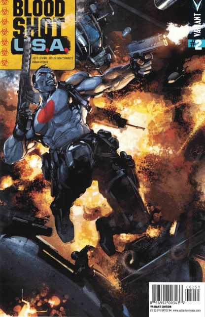 Bloodshot USA #2 1:50 Clayton Crain Variant Cover E Valiant 2016 VF/NM