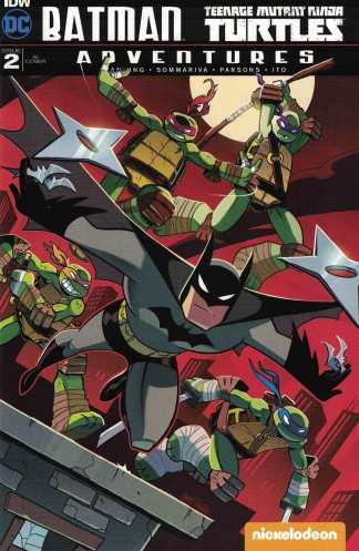 Batman TMNT Adventures #2 1:10 Chad Thomas RI Variant IDW 2016 Turtles