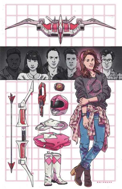 Power Rangers Pink #5 1:20 Reinwand Virgin Art Variant Boom 2016