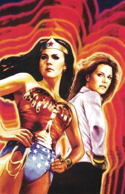 Wonder Woman Bionic Woman #1 1:10 Cat Staggs Virgin Art Variant DC 77 2016