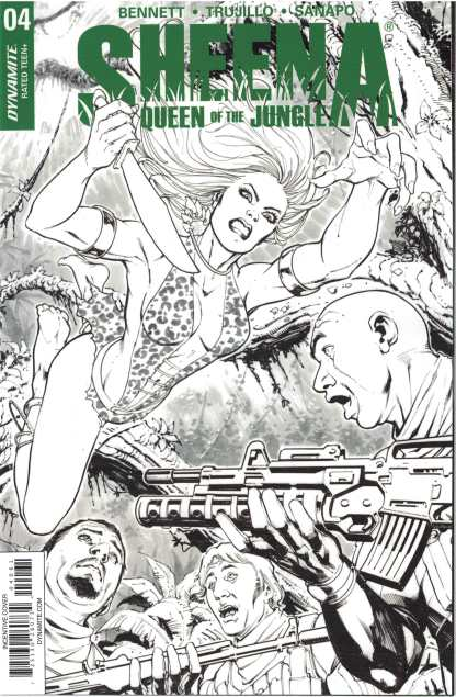 Sheena Queen of the Jungle #4 1:20 Marco Santucci B&W Variant Dynamite 2017