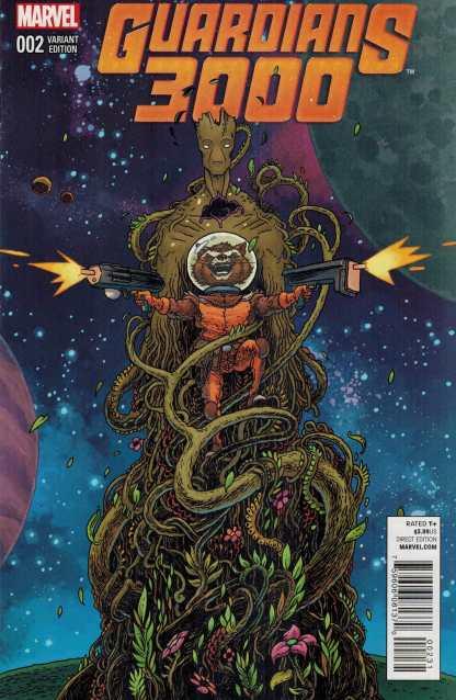 Guardians 3000 #2 Ian Bertram Rocket and Groot Variant