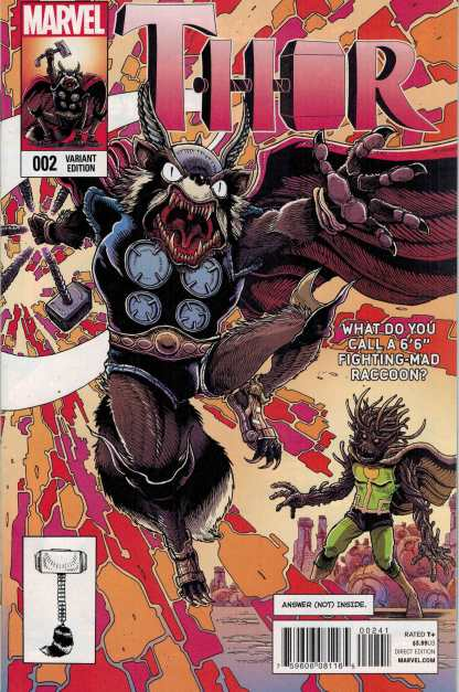 Thor (2014) #2 Rocket and Groot Variant Guardians of the Galaxy