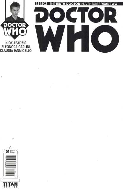 Doctor Who 10th Doctor Year Two #1 Blank Sketch Variant Titan 2015