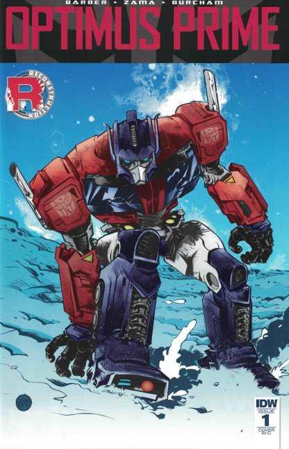 Optimus Prime #1 1:50 Retailer Incentive Variant RI-C Transformers IDW 2016 RARE