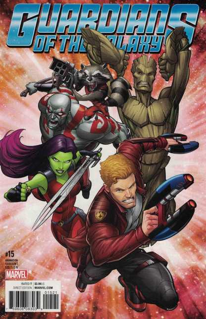 Guardians of the Galaxy #15 1:10 Animation Variant NOW Marvel 2015