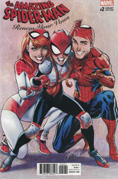 Amazing Spider-Man Renew Your Vows #2 1:25 J Scott Campbell Variant Marvel 2016